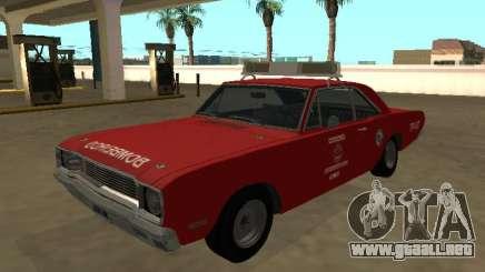 Dodge Dart 1974 Departamento de Bomberos de Sao Paulo para GTA San Andreas