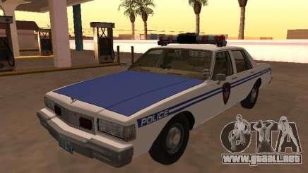 Chevy Caprice 1987 NYPDT policía versión editada para GTA San Andreas