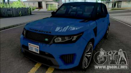 Land Rover Range Rover Sport SVR 2017 Improved para GTA San Andreas