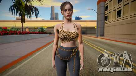 Claire Redfield Top Leopard para GTA San Andreas