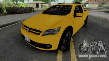 Volkswagen Saveiro G5 Yellow para GTA San Andreas