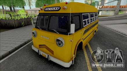 Dodge Bus Escolar para GTA San Andreas