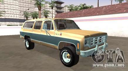 1974 Chevrolet Suburban Deluxe para GTA San Andreas
