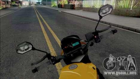 Yamaha XT660 Yellow para GTA San Andreas