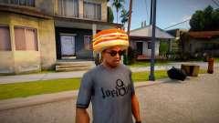 Burger Shot Employee Hat para GTA San Andreas