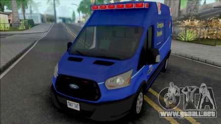Ford Transit 2016 Greenglass College Hospital para GTA San Andreas