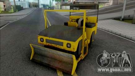 CAT Rodillo Compactador Con Topadora para GTA San Andreas