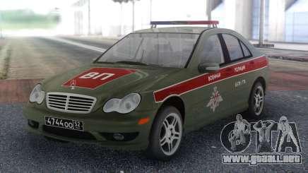 Mercedes-Benz Clase C Policía Militar para GTA San Andreas