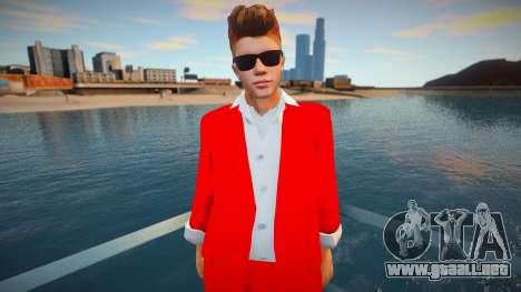 Justin Bieber sunglasses para GTA San Andreas