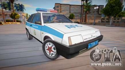 Vaz 2108 Policía KK (DPS) para GTA San Andreas