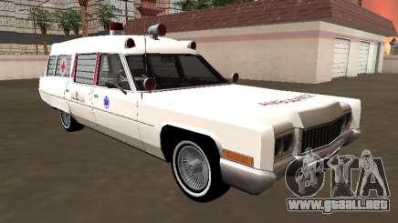 Cadillac Fleetwood Wagon 1970 Ambulancia para GTA San Andreas