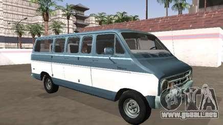 Dodge Sportsman B200 1972 Autobús para GTA San Andreas