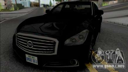 Nissan Cima 2012 (SA Style) para GTA San Andreas