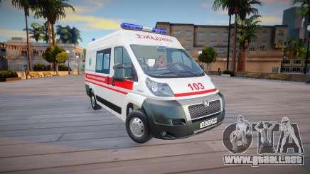 Peugeot Boxer Ambulancia Ucrania para GTA San Andreas