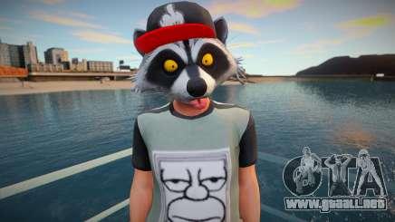 Faggot mask raccoon from GTA Online para GTA San Andreas