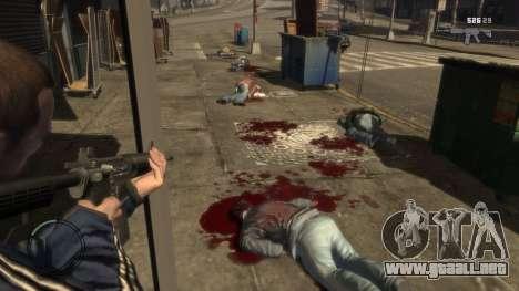 Blood Mod for GTAIV para GTA 4