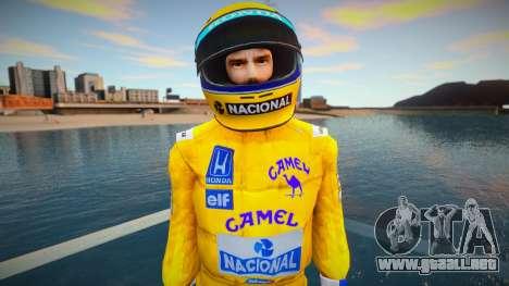 Ayrton Senna Lotus Camel Skin para GTA San Andreas