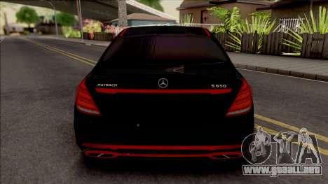 Mercedes-Maybach S650 Black-Red Tuning para GTA San Andreas