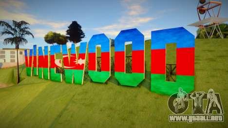 Vinewood Azerbaijan Flag para GTA San Andreas