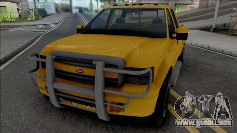 GTA V Vapid Sadler [VehFuncs] para GTA San Andreas