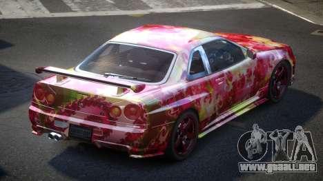 Nissan Skyline R34 PSI-U S2 para GTA 4