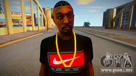 Afroamericano en camiseta Nike para GTA San Andreas