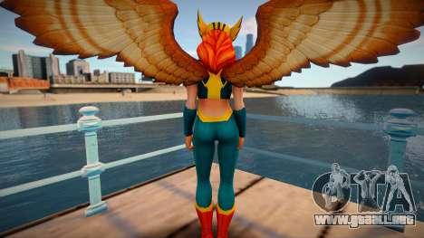 Hawkgirl from DC Legends para GTA San Andreas