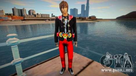 Kamen Rider Kiva Kurenai Wataru skin para GTA San Andreas