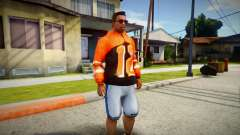 Orange Hoodie 12 para GTA San Andreas