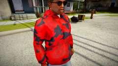 Red Camo Hoodie para GTA San Andreas