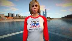 Chica en pantalones vaqueros grises de GTA Online para GTA San Andreas
