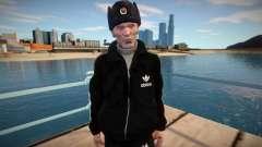Gopnik adulto en sombrero de invierno para GTA San Andreas