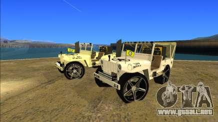 Punjabi Jeep Willy Mod por Harinder Mods para GTA San Andreas