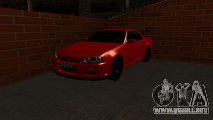 Nissan Skyline GTR34 RUS Plates para GTA San Andreas