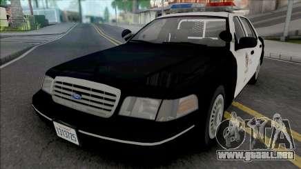 Ford Crown Victoria 1998 CVPI LAPD v2 para GTA San Andreas