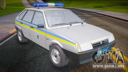 VAZ 2109 Milicia de Ucrania para GTA San Andreas