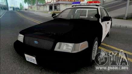 Ford Crown Vic. 2000 CVPI LAPD (Vista Light) v2 para GTA San Andreas