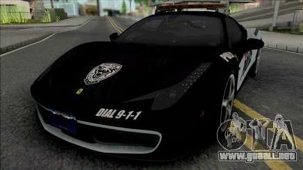 Ferrari 458 Italia Police para GTA San Andreas