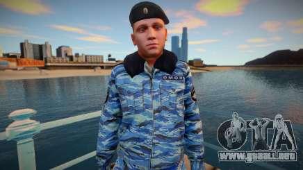Un oficial de policía con un uniforme de invierno para GTA San Andreas