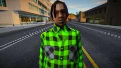 FAM2 en una camisa a cuadros para GTA San Andreas