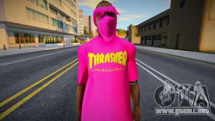 Ballas 1 - Trasher para GTA San Andreas