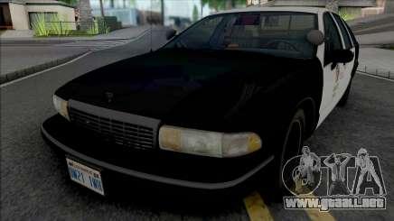 Chevrolet Caprice 1993 LAPD GND para GTA San Andreas