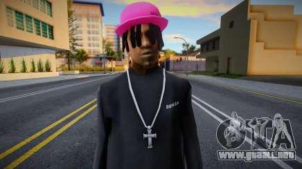 Gorra rosa Fam2, Polo Ralph para GTA San Andreas