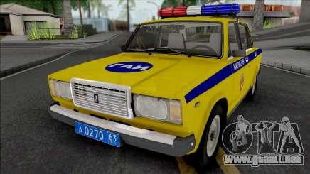 VAZ-2107 POLICÍA DE TRÁFICO región de Samara para GTA San Andreas