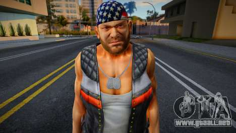 Dead Or Alive 5 - Bass Armstrong (Costume 1) 2 para GTA San Andreas