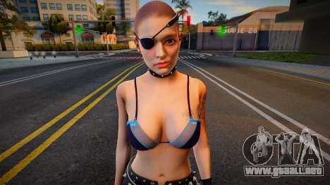 Claire Stripper no coat and blady para GTA San Andreas