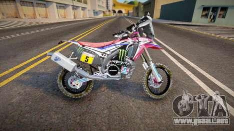 2018 Honda CRF 450R Dakar Rally para GTA San Andreas