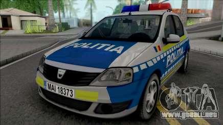Dacia Logan Politia Romana para GTA San Andreas