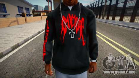 XXXTENTACION Revenge Hoodie para GTA San Andreas