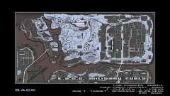 Mapa gris y radar